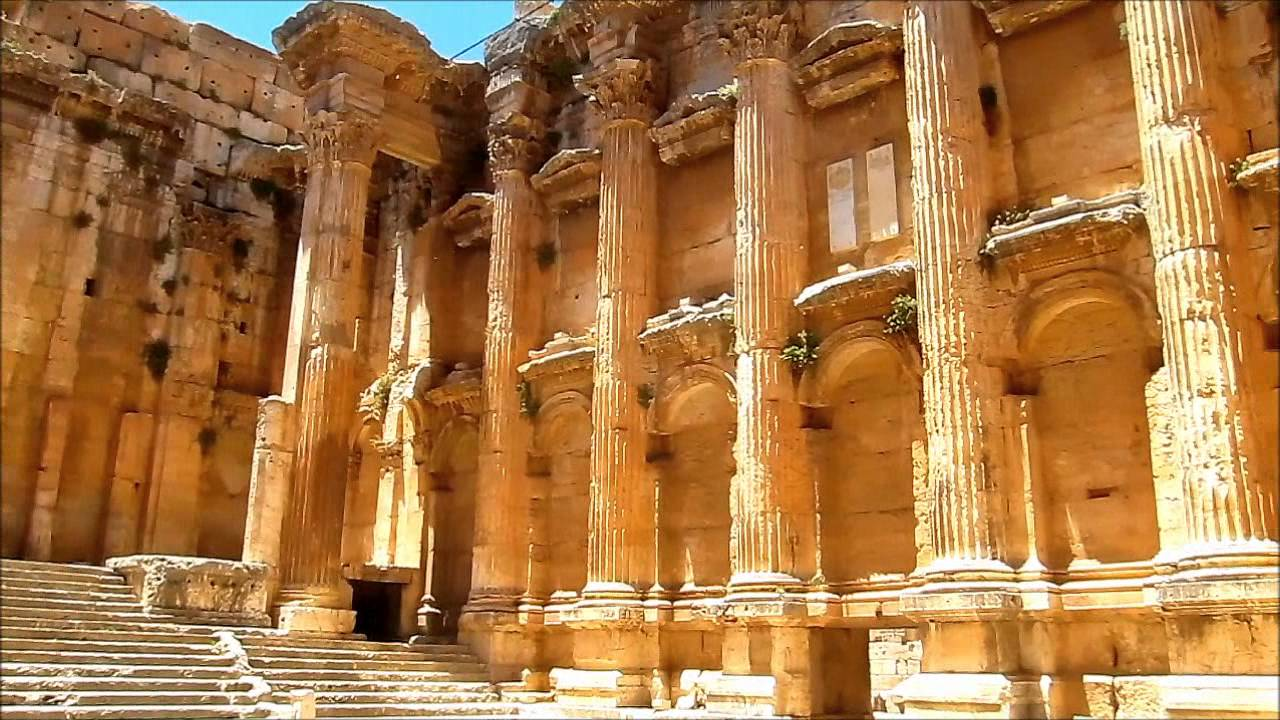 Temple of Jupiter Baalbek, LEBANON: Temple of Bacchus, Baalbek - YouTube