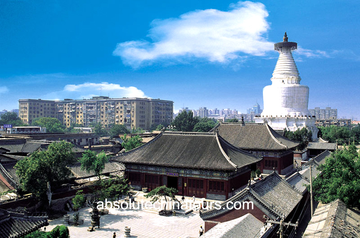 Temple of the White Pagoda Beijing, White Dagoba Temple Beijing, Beijing tour, China