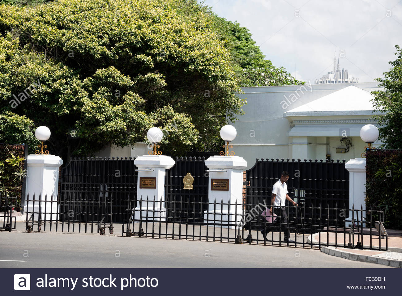 Temple Trees Colombo, The main entrance to the Prime Minister's official residence ...