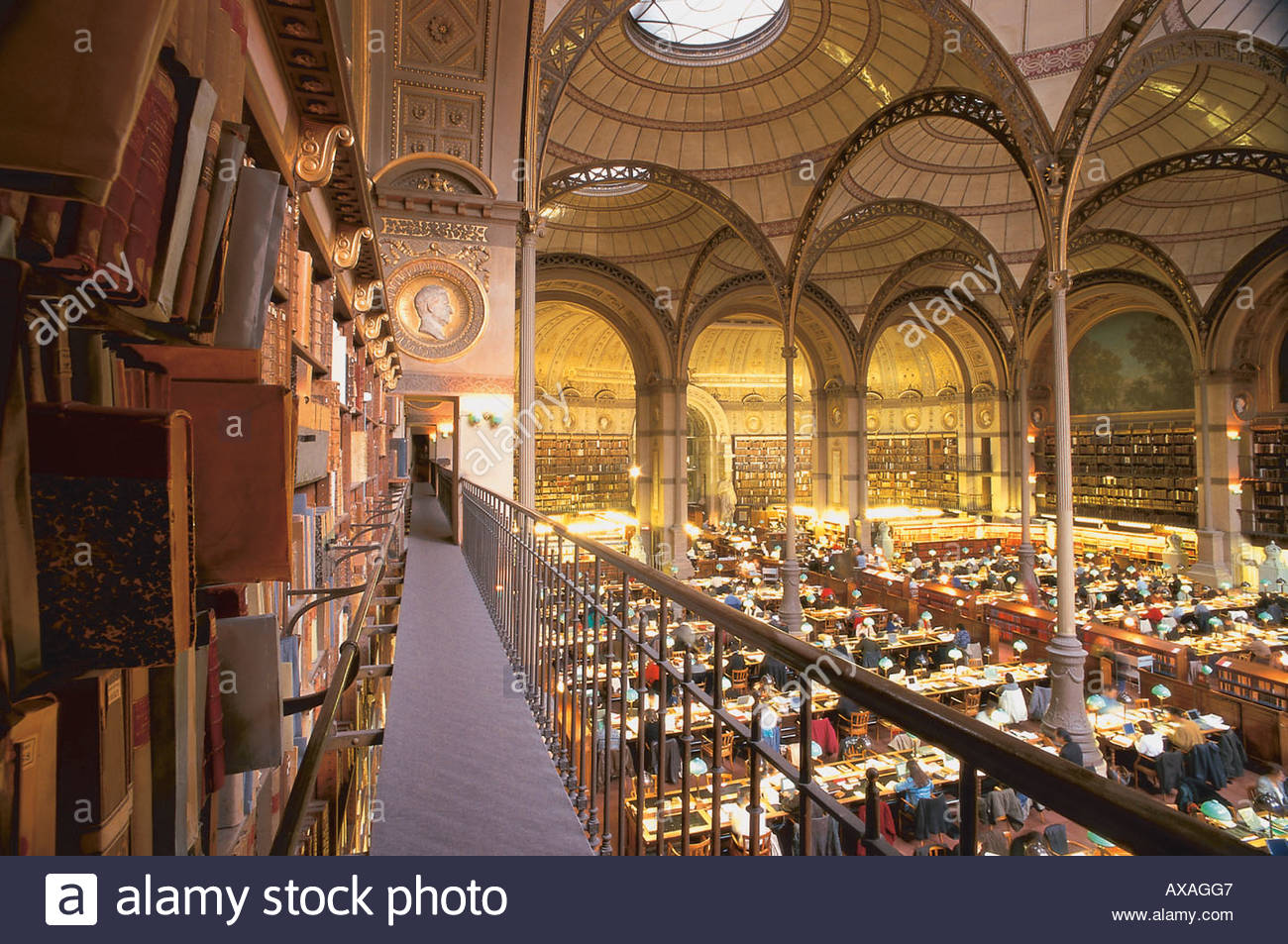 Tenniseum Paris, Reading hall of the National library (Bibliotheque nationale de ...