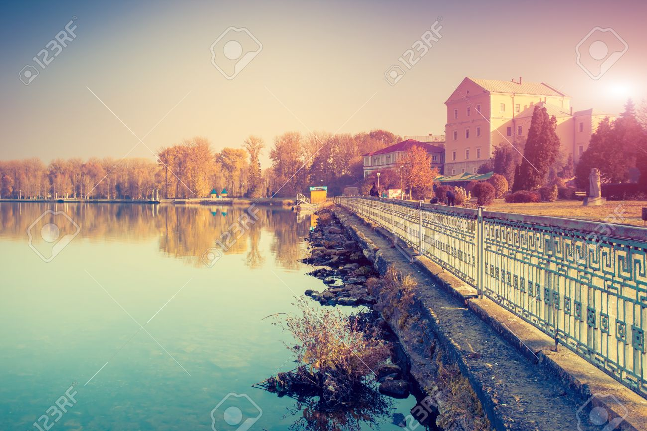 Ternopil Lake Ternopil, Fantastic Sunny Day On The Lake In Ternopil, Ukraine Stock Photo ...