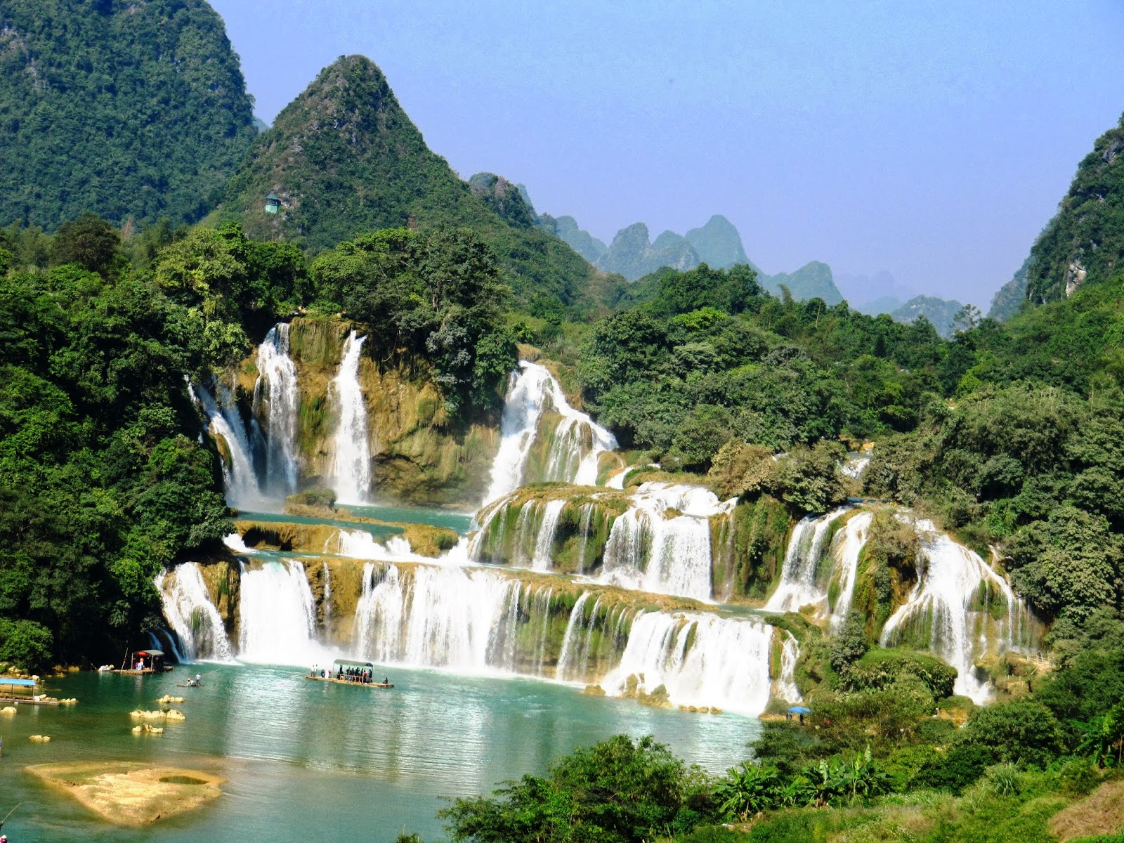 Thai Giang Pho Waterfall The Northwest, The North West tour Ba Be-Ban Gioc-Ha Giang-Sapa, 11 days 10 ...