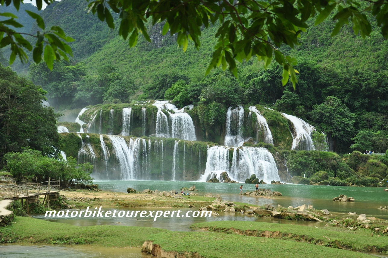 Thai Giang Pho Waterfall The Northwest, Ban Gioc Waterfall - Motorcycle Ride Northeast Vietnam