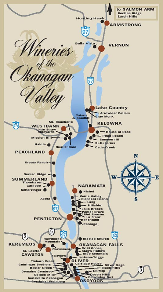 The BX Press Cidery & Orchard Okanagan Wine Country, Wineries of the Okanagan Valley Map - Discover Okanagan Tours