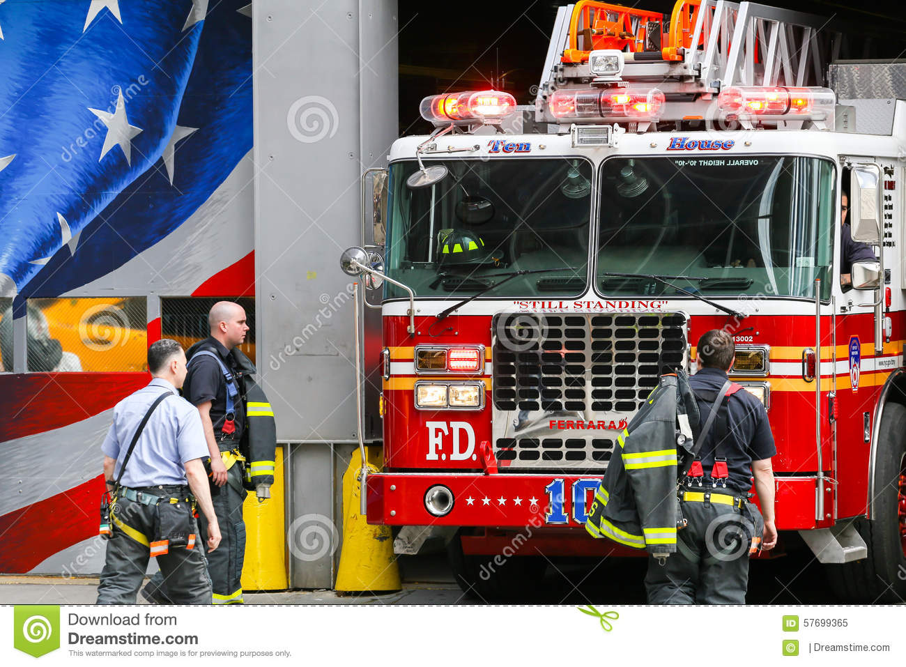 The Daily Show with Jon Stewart New York City, Ten House Fire Station In NY Editorial Image - Image: 57699365