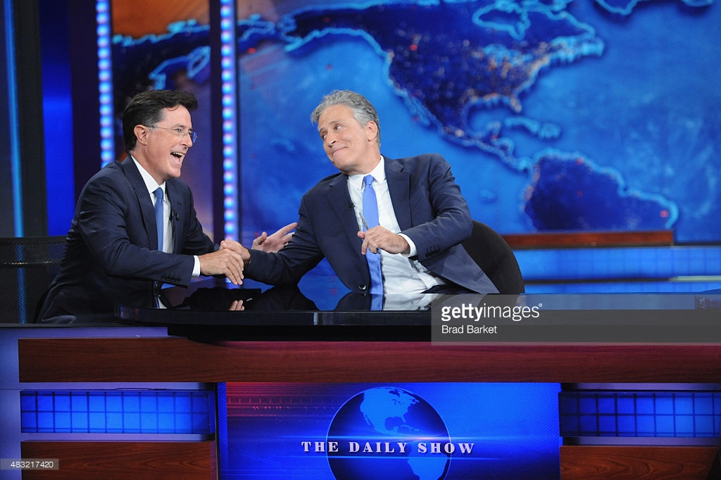 The Jewish Museum New York City, stephen-colbert-and-jon-stewart-appear-on-the-daily-show-with-jon -picture-id483217420