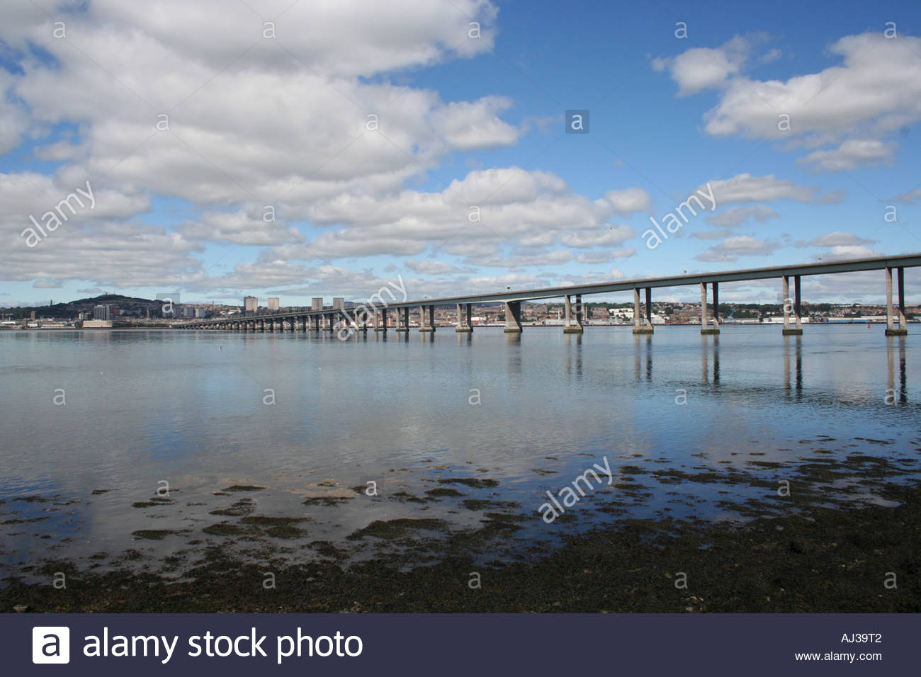 The Law Fife and Angus, Tay Road bridge and city of Dundee skyline Angus from Newport Fife ...