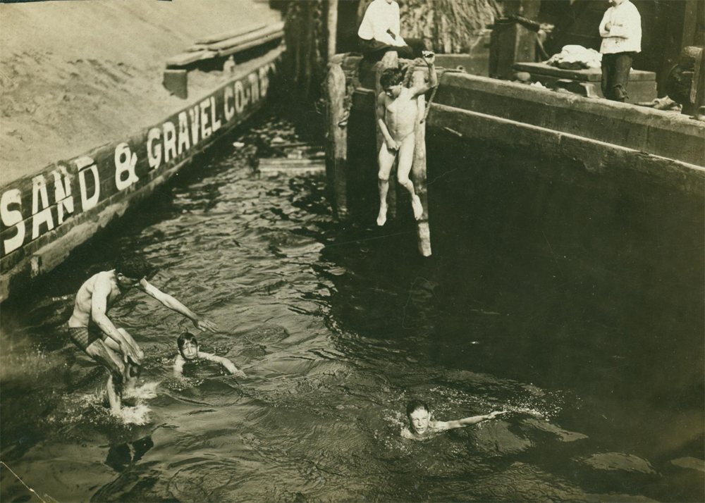 The Museum of Modern Art (MoMA) New York City, Old Swimming Hole Foot of 50th St and East River 1907 | old nyc ...