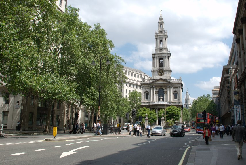 The Strand London, BeenThere-DoneThat: The Strand showing St. Mary-le-Strand Church ...