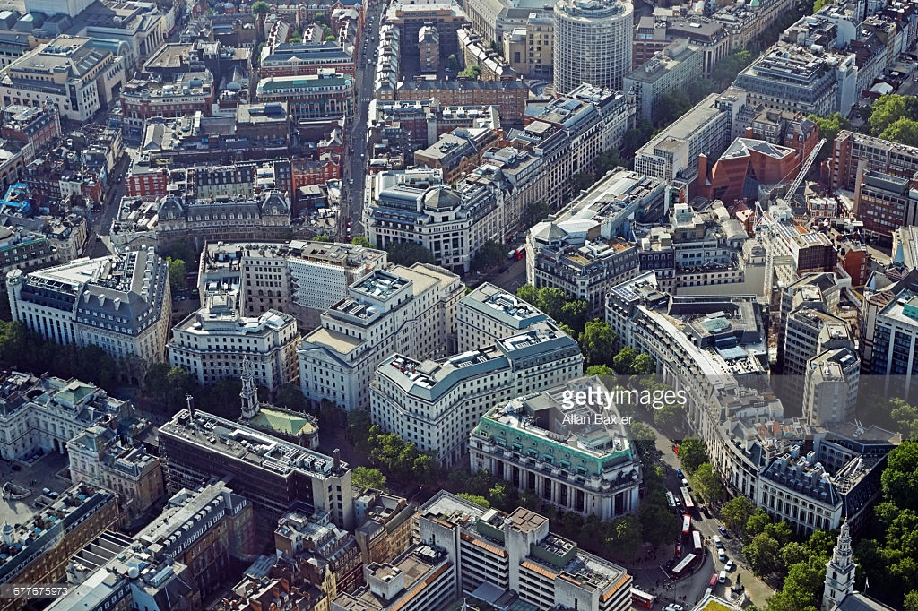 The Strand London, Aerial View Of The Strand London Stock Photo | Getty Images