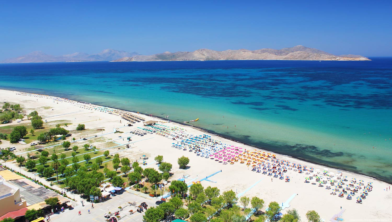 Tigaki Beach Rhodes and the Dodecanese, Tigaki Beach Hotel location in Tigaki Kos island - Tigaki Kos ...