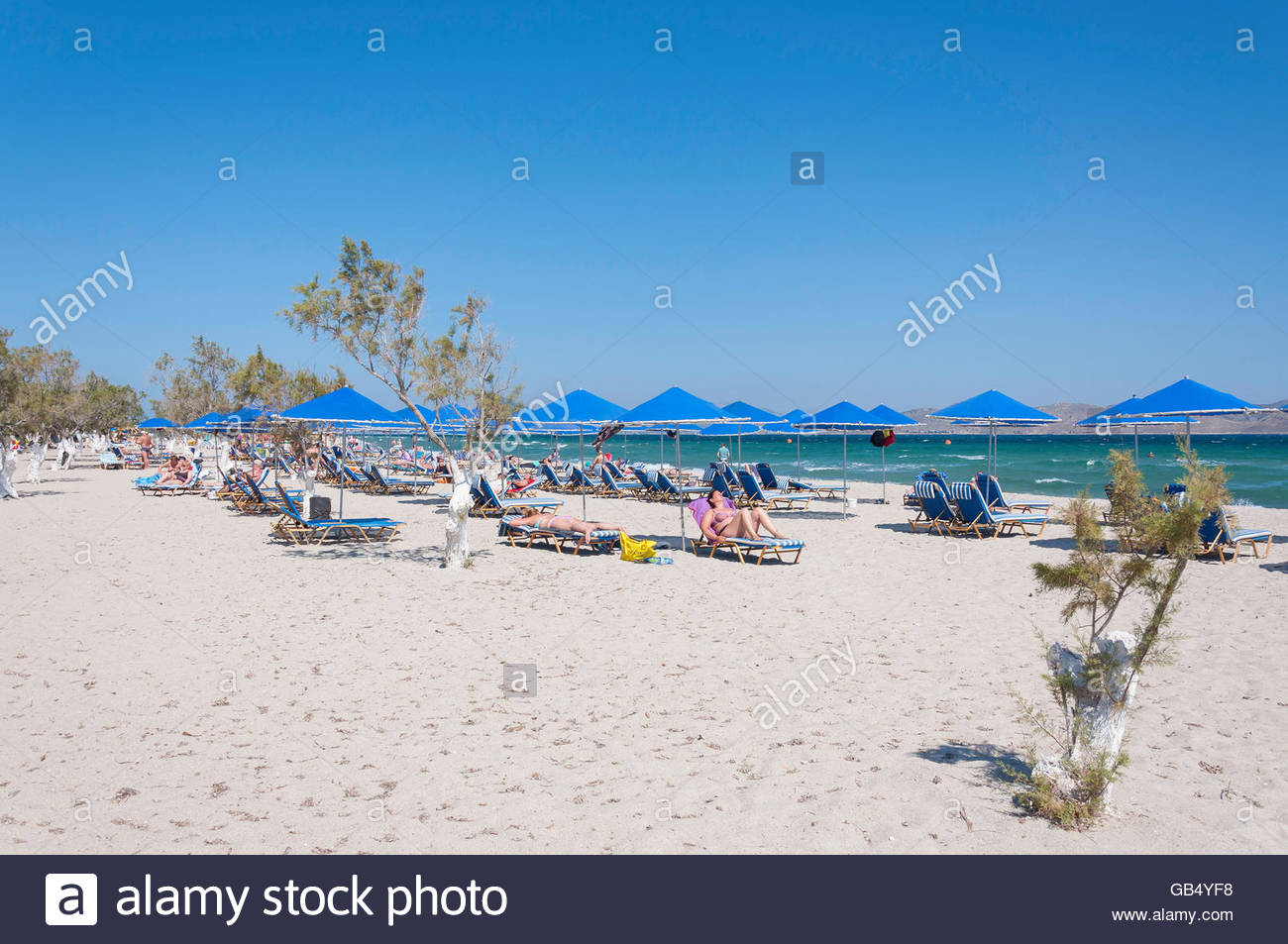 Tigaki Beach Rhodes and the Dodecanese, Tigaki Beach Kos Stock Photos & Tigaki Beach Kos Stock Images - Alamy