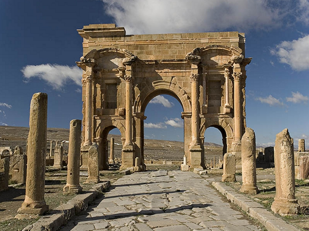 Timgad Timgad, Algeria. Timgad, Roman colonial town | Places. Africa. Northern ...
