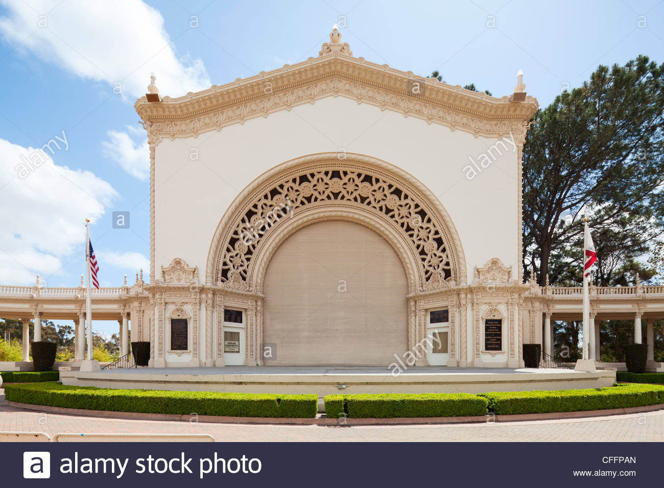 Timken House San Diego, Spreckels Organ Pavilion, San Diego Stock Photo, Royalty Free ...