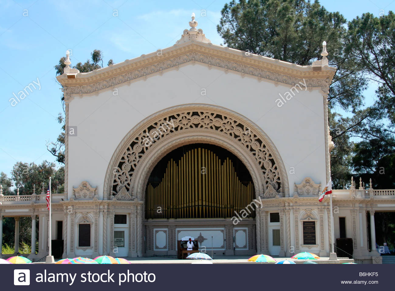 Timken House San Diego, SPRECKELS ORGAN PAVILION IN SAN DIEGO CALIFORNIA USA Stock Photo ...