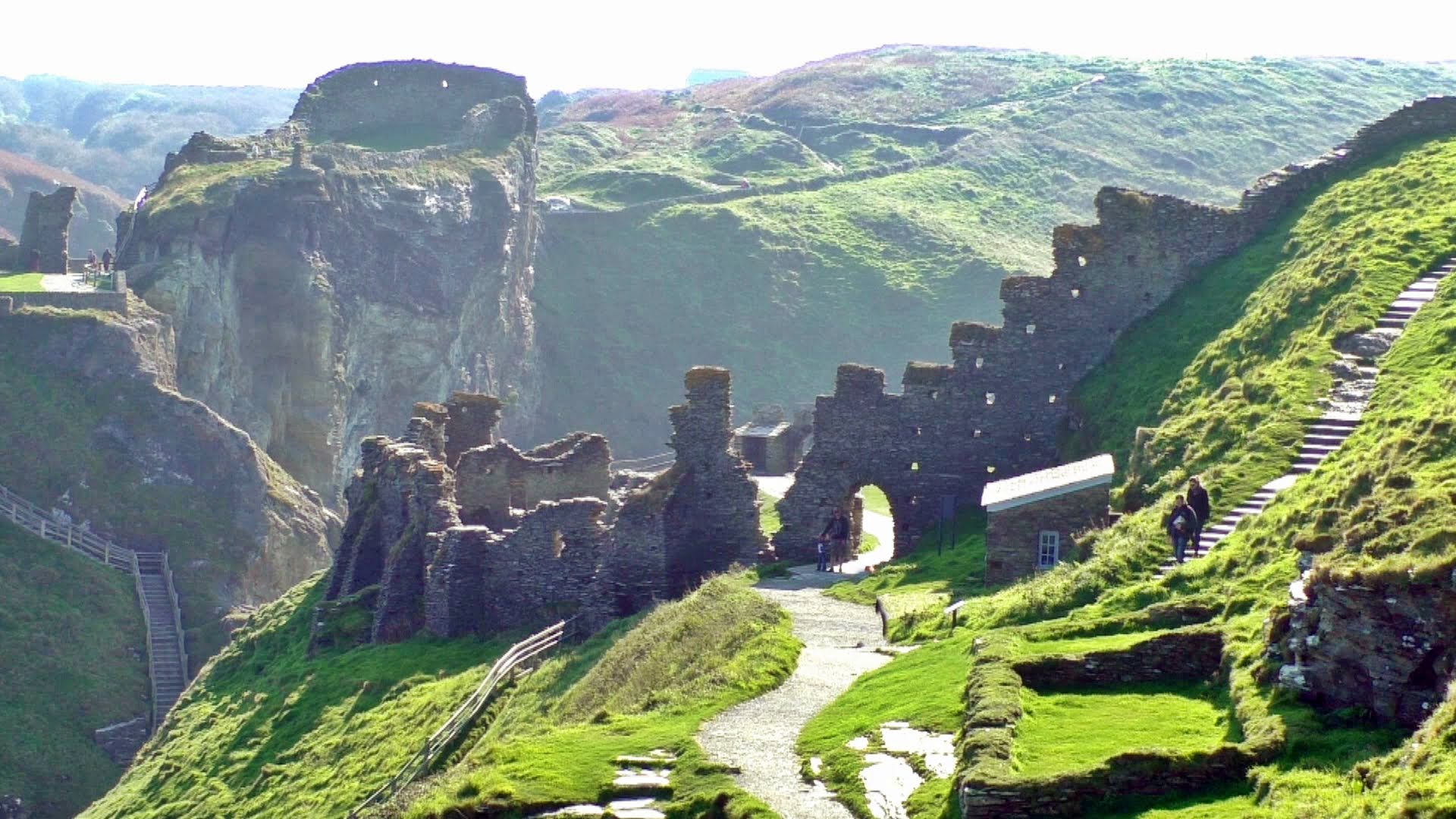 Tintagel Castle Tintagel, Tintagel Castle in Cornwall - The Land of King Arthur - YouTube