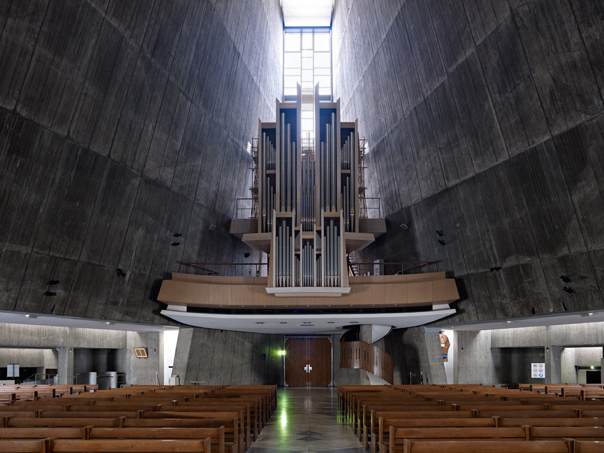 Tod's Omote-sandō Tokyo, Saint Mary's Cathedral in Tokyo i by the architect Kenzo Tange _ ...