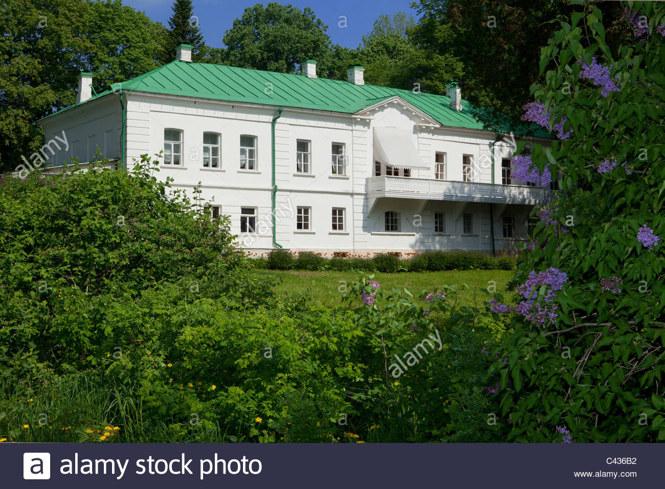 Tolstoy House Estate Museum Moscow, The Tolstoy House at Yasnaya Polyana, Russia Stock Photo, Royalty ...