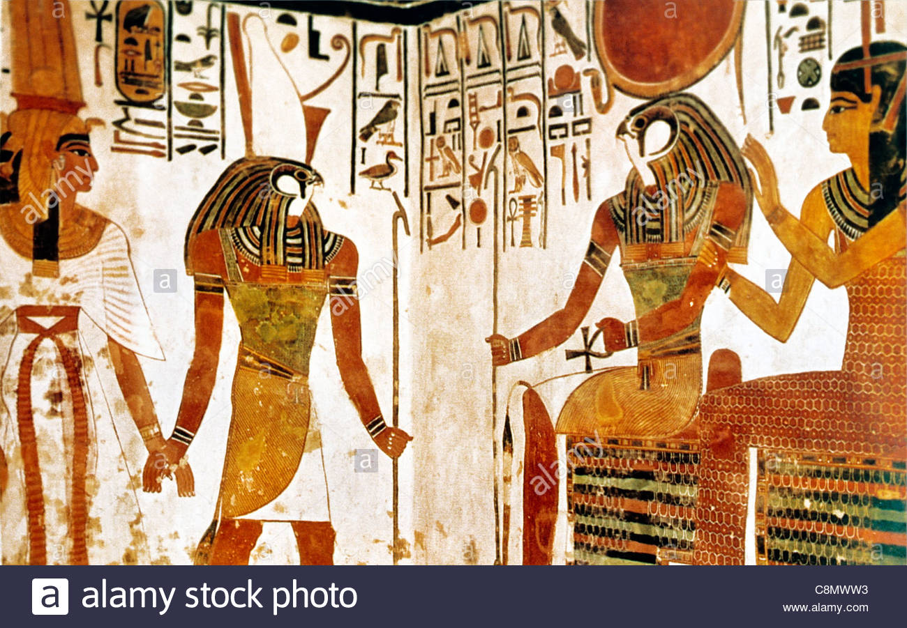 Valley of the Queens Luxor, Luxor Egypt Valley of the Queens Tomb of Nefertari Horus Stock ...