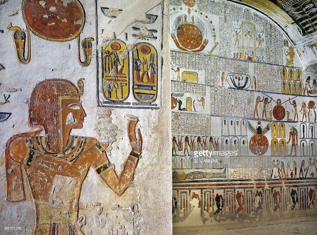 Tomb of Ramses VI (KV 9) Luxor, Egypt, Thebes, Luxor, Valley of the Kings, Tomb of Ramses VI, left ...