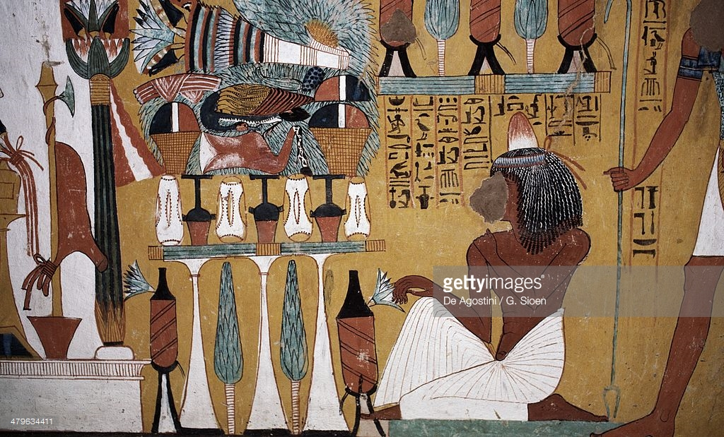 Tomb of Sennedjem Luxor, Wall Painting Tomb Of Sennedjem Valley Of Kings Luxor Thebes Egypt ...