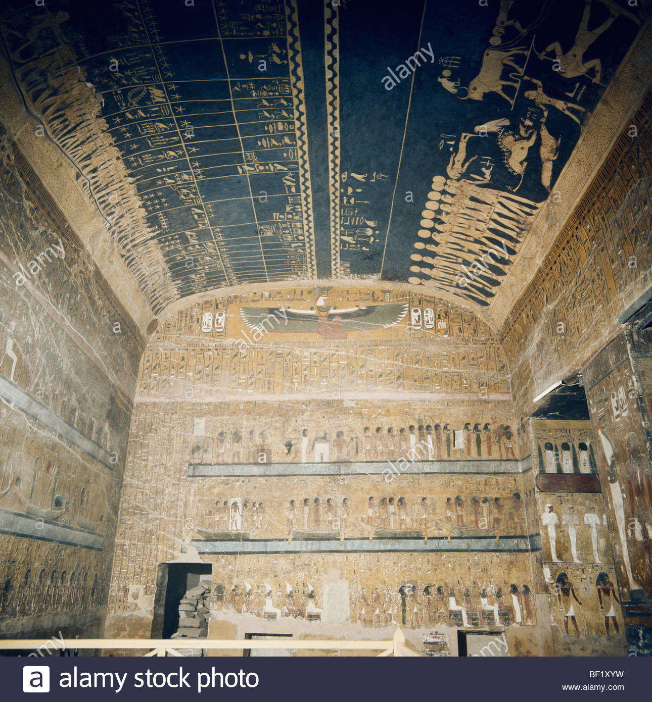 Tomb of Seti II (KV 15) Luxor, Tomb of Seti I, Valley of the Kings, Thebes, Luxor, Egypt, North ...