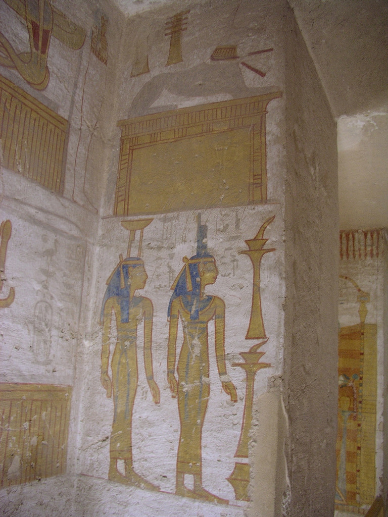 Tomb of Seti II (KV 15) Luxor, Valley of the Kings, tomb of Seti II, KV 15 well-room, west (rear ...