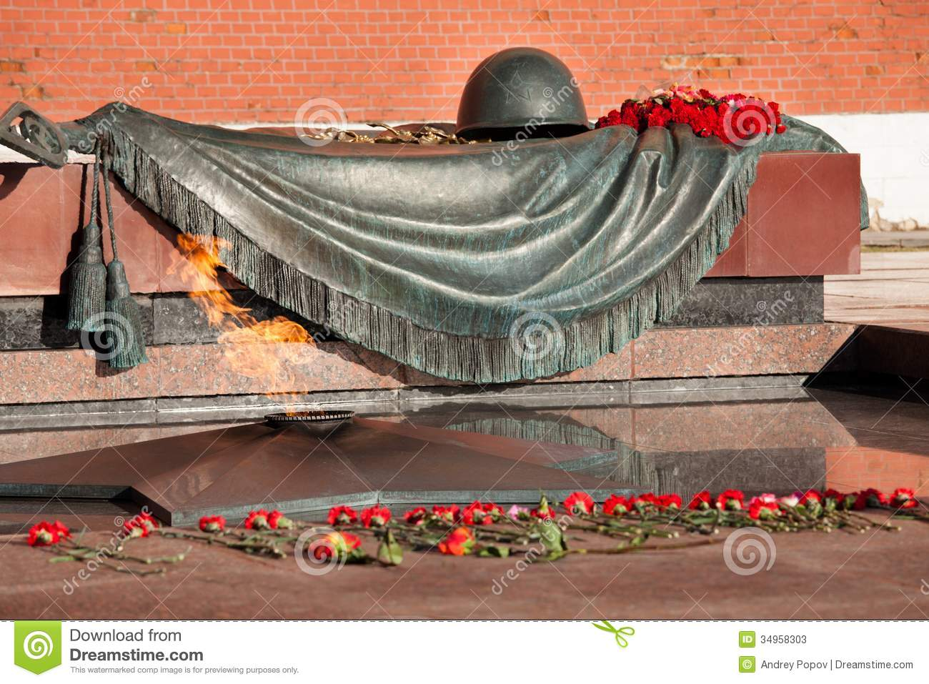 Tomb of the Unknown Soldier Moscow, Tomb Of The Unknown Soldier In Moscow Stock Image - Image: 34958303