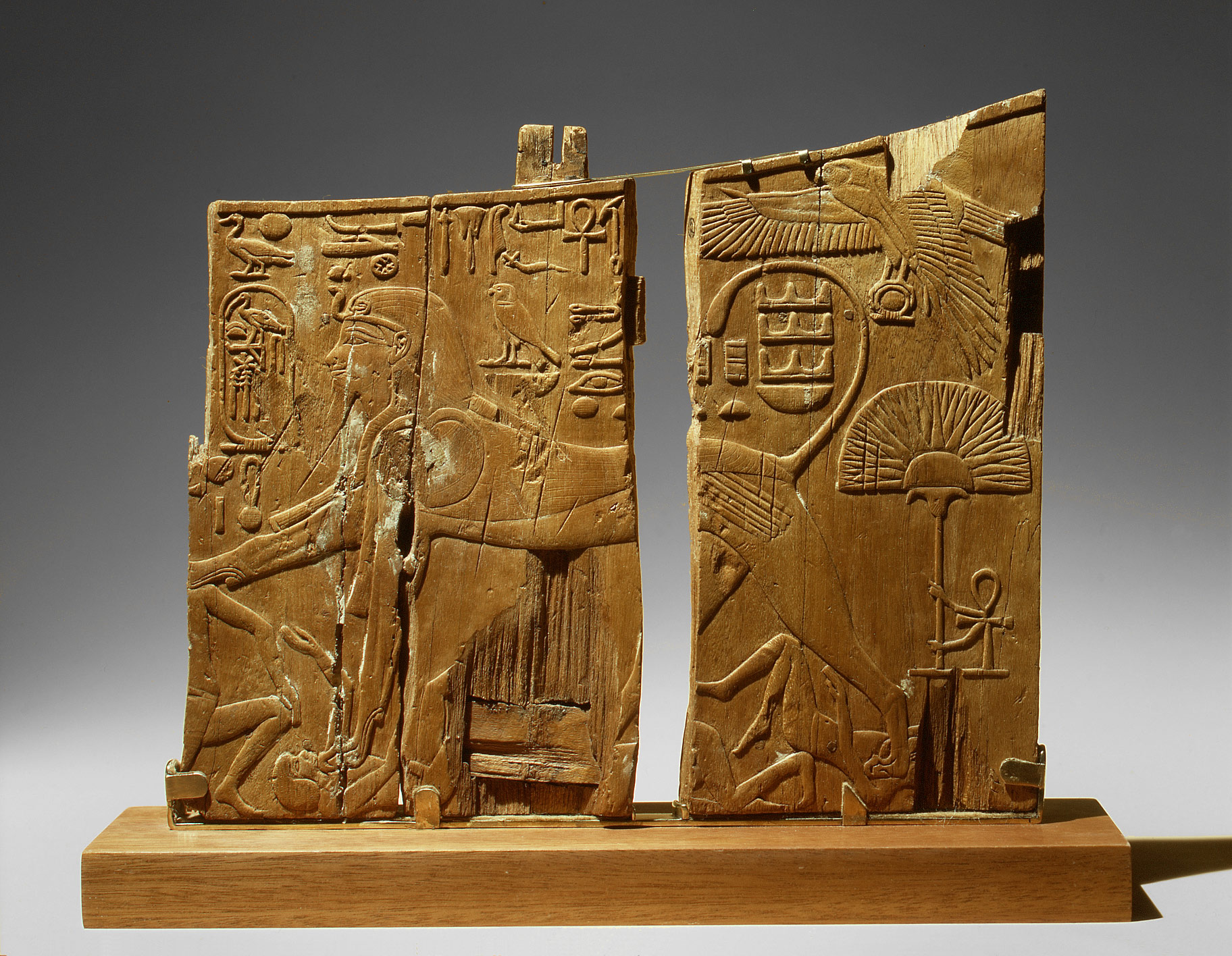 Tomb of Tuthmosis IV (KV 43) Luxor, Arm Panel From a Ceremonial Chair of Thutmose IV Period: New ...
