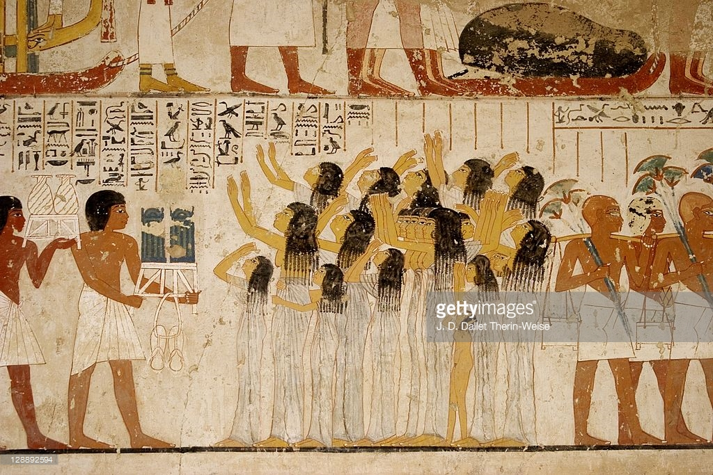 Tombs of the Nobles Luxor, Mural Paintings In The Tomb Of Ramose Tombs Of The Nobles Luxor ...