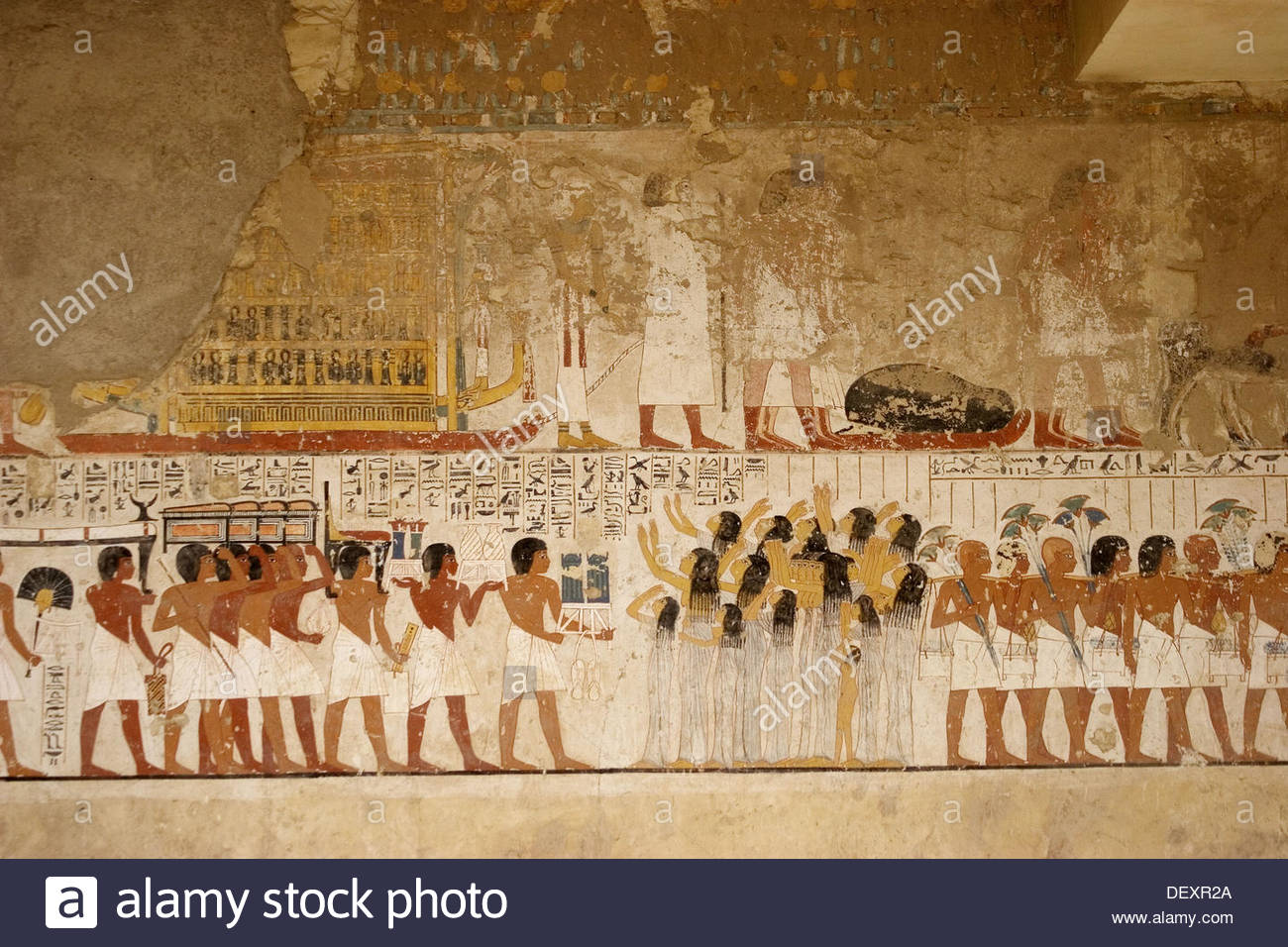 Tombs of the Nobles Luxor, Mural paintings in the tomb of Ramose. Tombs of the Nobles, Luxor ...