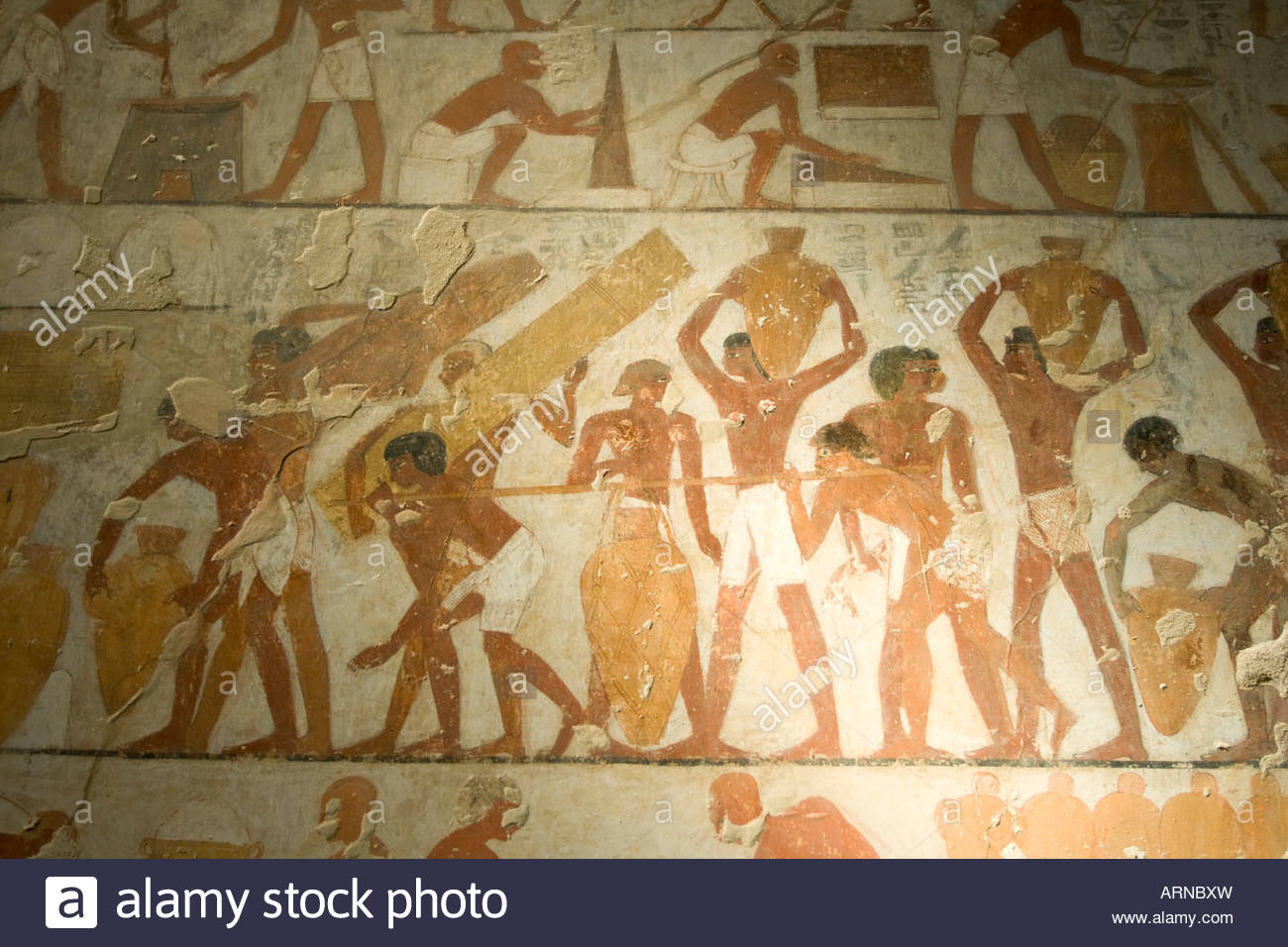 Tombs of the Nobles Luxor, Hieroglyphs in the tomb of Rechmire or Rekhmire Tombs of the ...