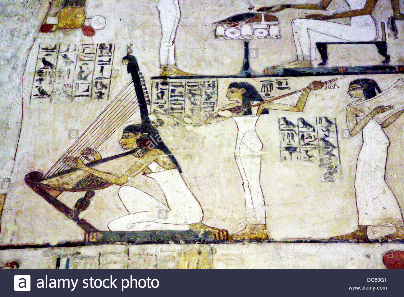 Tombs of the Nobles Luxor, Decoration detail: tomb of Rekhmire, tombs of the Nobles, Luxor ...