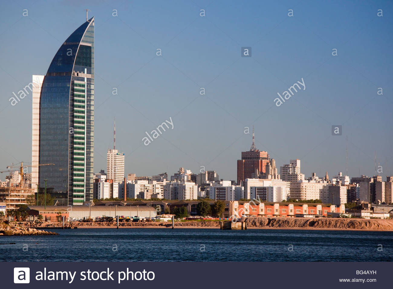 Torre Antel Montevideo, Uruguay, Montevideo, Torre Antel tower Stock Photo, Royalty Free ...