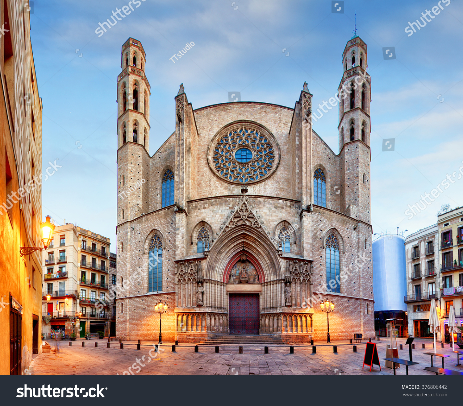 Torre Bellesguard Barcelona, Santa Maria Del Mar Church Barcelona Stock Photo 376806442 ...