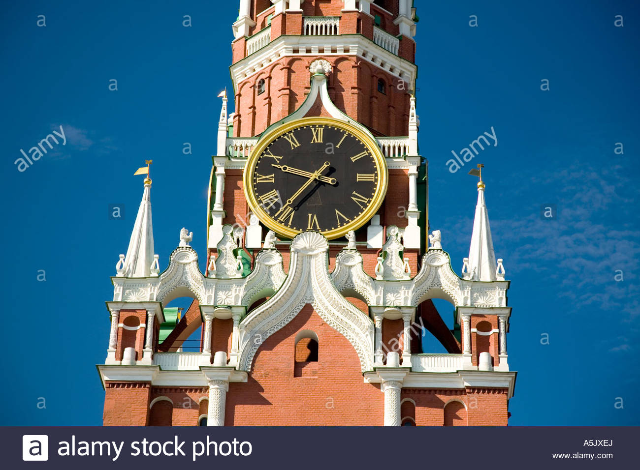 Tower of the Savior Moscow, The Savior Tower or Frolov Tower, Moscow, Russia, East Europe ...