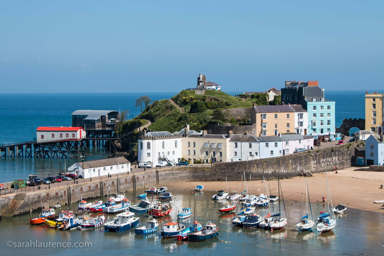 Town Trails of Tenby South Wales, Sarah Laurence: Carew Castle & Coastal Cliffs in Pembrokeshire, Wales