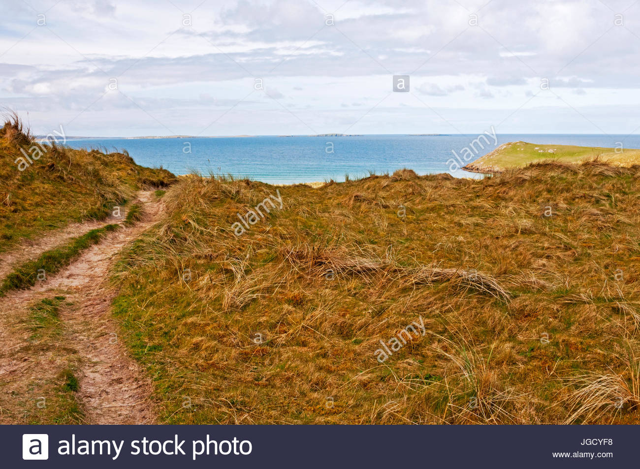 Tramore Beach Dunfanaghy, Trail to Tramore Beach, Dunfanaghy, County Donegal, Ireland Stock ...