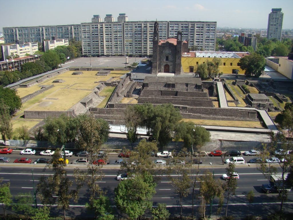 Tranvía Turístico Mexico City, Panoramio - Photo of Panorámica2 Plaza de las Tres Culturas ...