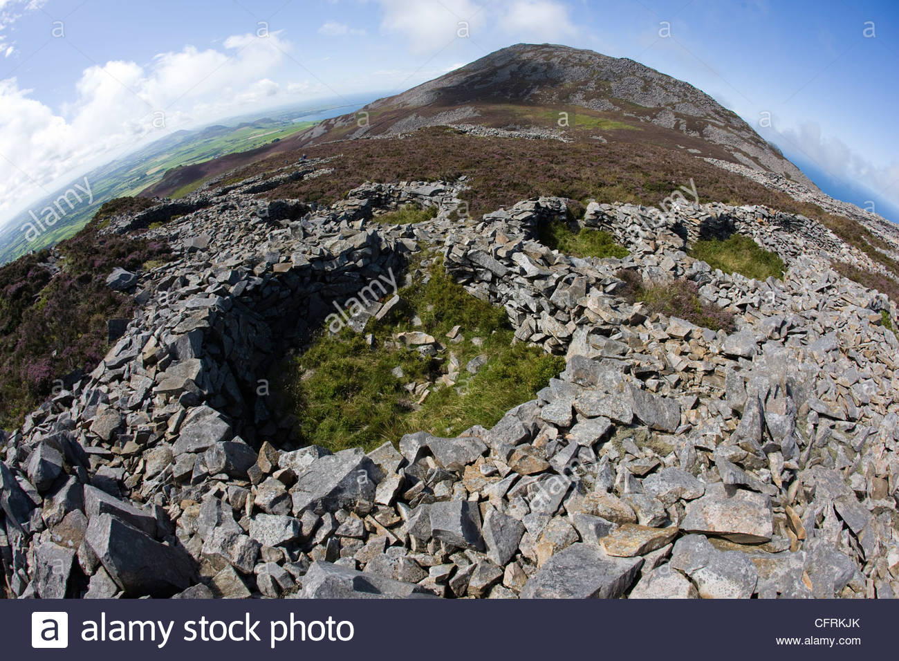 Tre'r Ceiri North Wales, The remains of Iron Age roundhouses in Tre'r Ceiri hill fort in ...