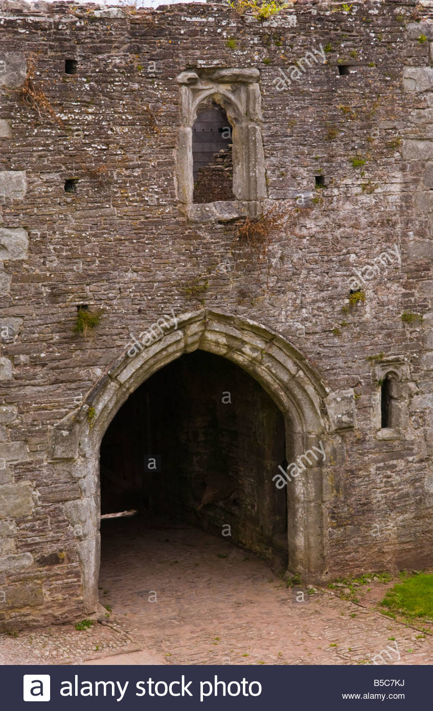 Tretower Court South Wales, Gateway into Tretower Court Powys South Wales UK a medieval ...