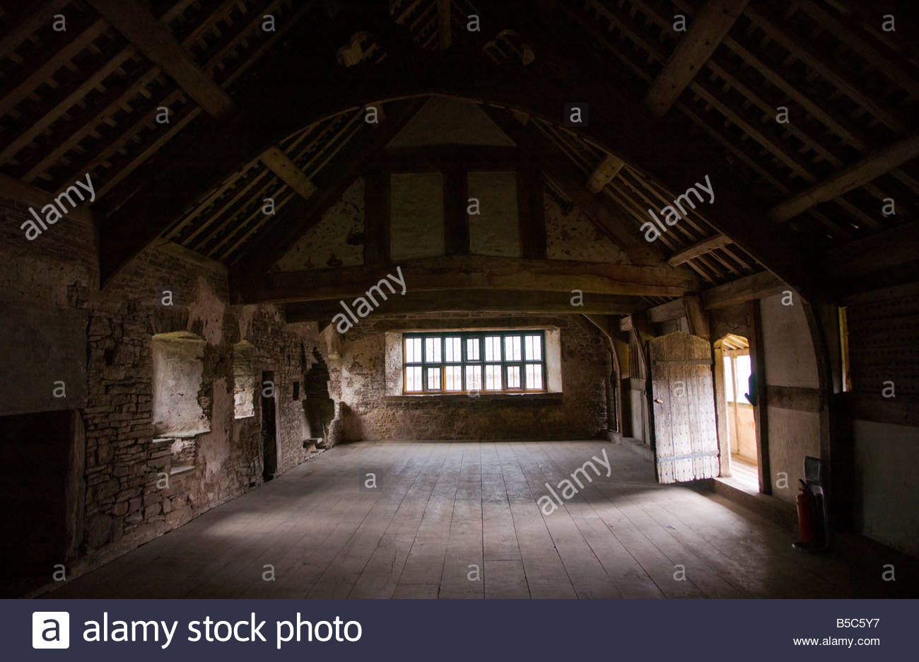 Tretower Court South Wales, Upper floor of the north range at Tretower Court Powys South Wales ...