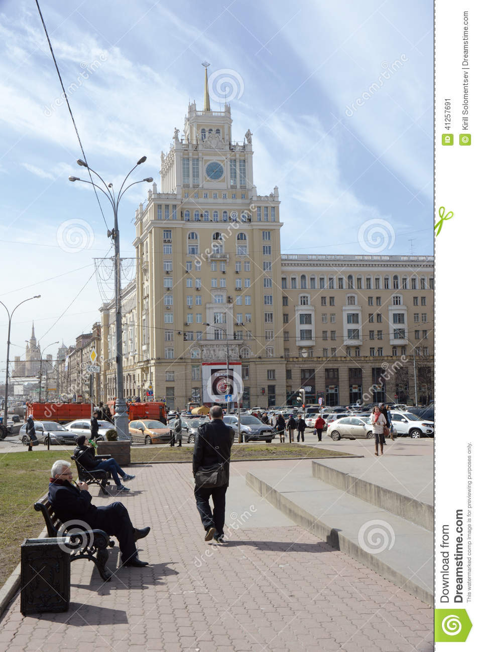 Triumphal Square Moscow, Hotel Beijing Triumphal Square Moscow Editorial Photo - Image ...