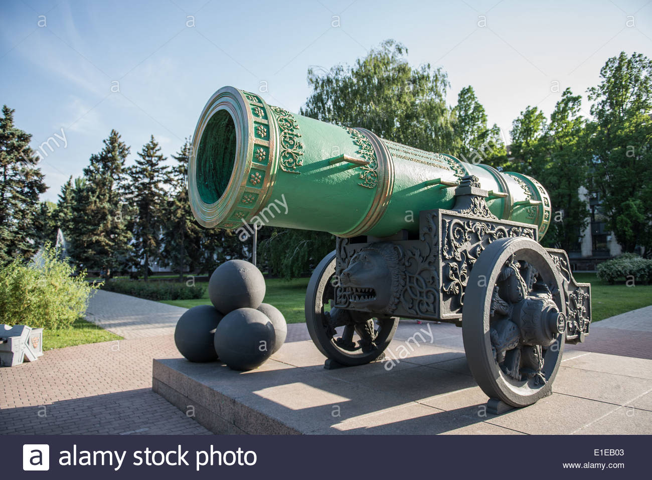 Tsar Cannon Moscow, Tsar Cannon (replica of famous cannon in Moscow) in Donetsk ...