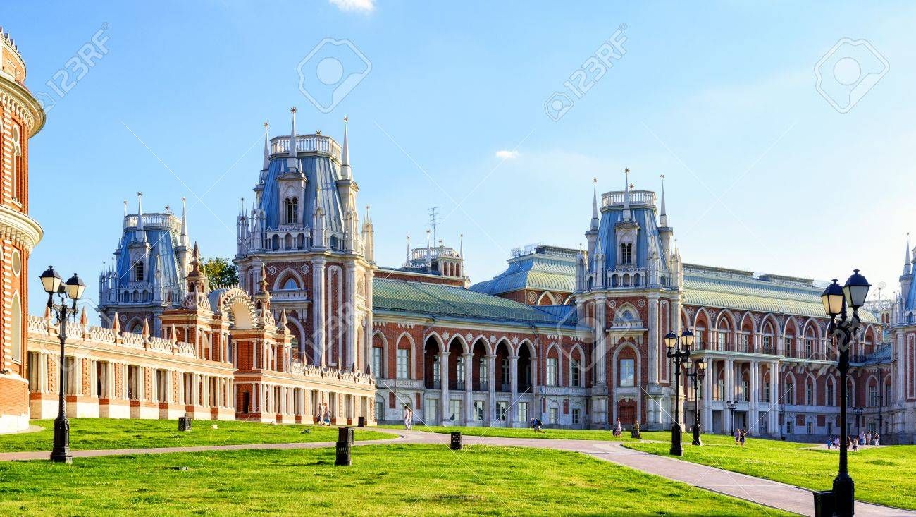 Tsaritsyno Moscow, The Grand Palace Of Queen Catherine The Great In Tsaritsyno ...