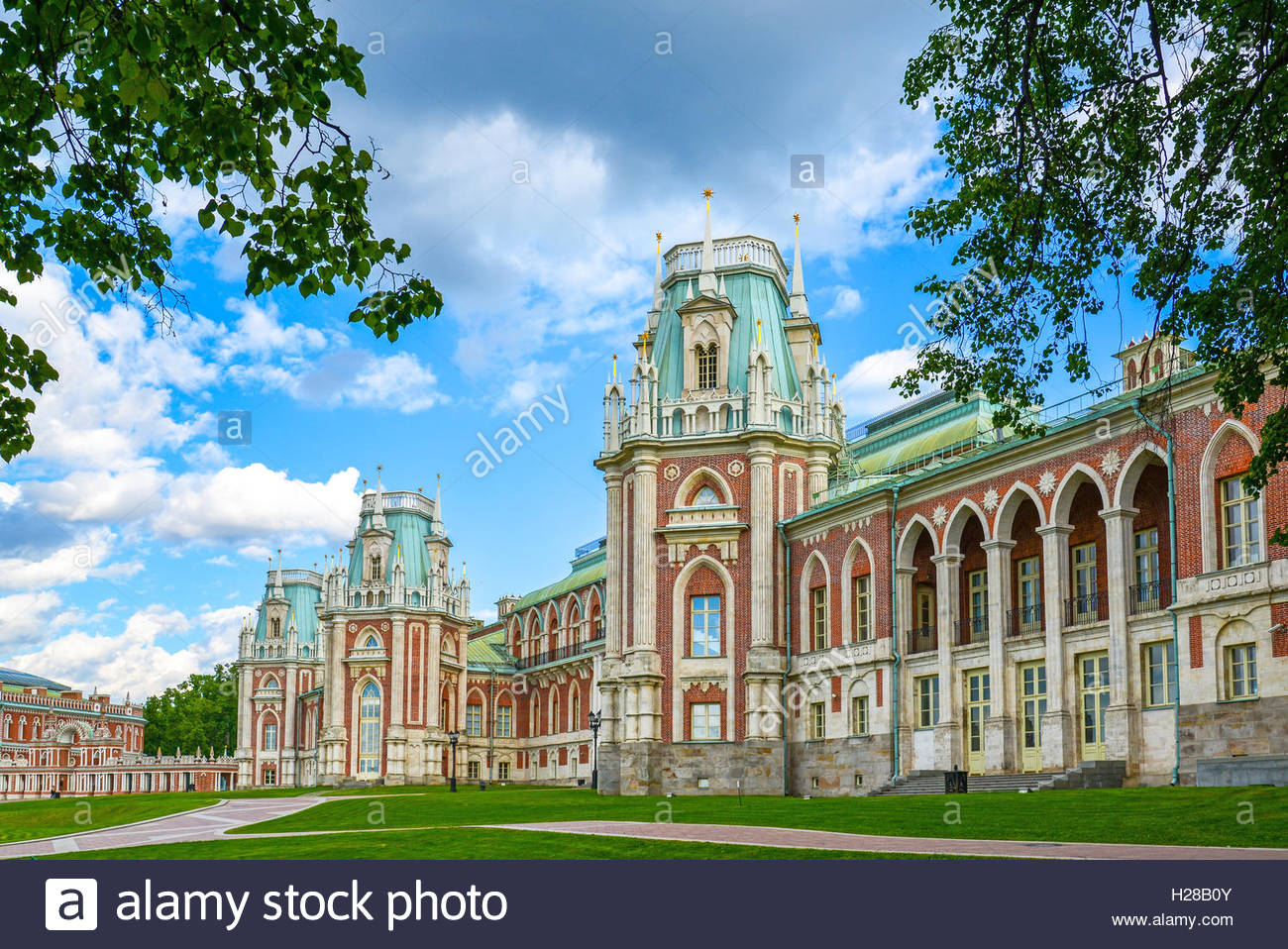 Tsaritsyno Moscow, Moscow, Russia - June 08, 2016. Grand Palace in Tsaritsyno museum ...