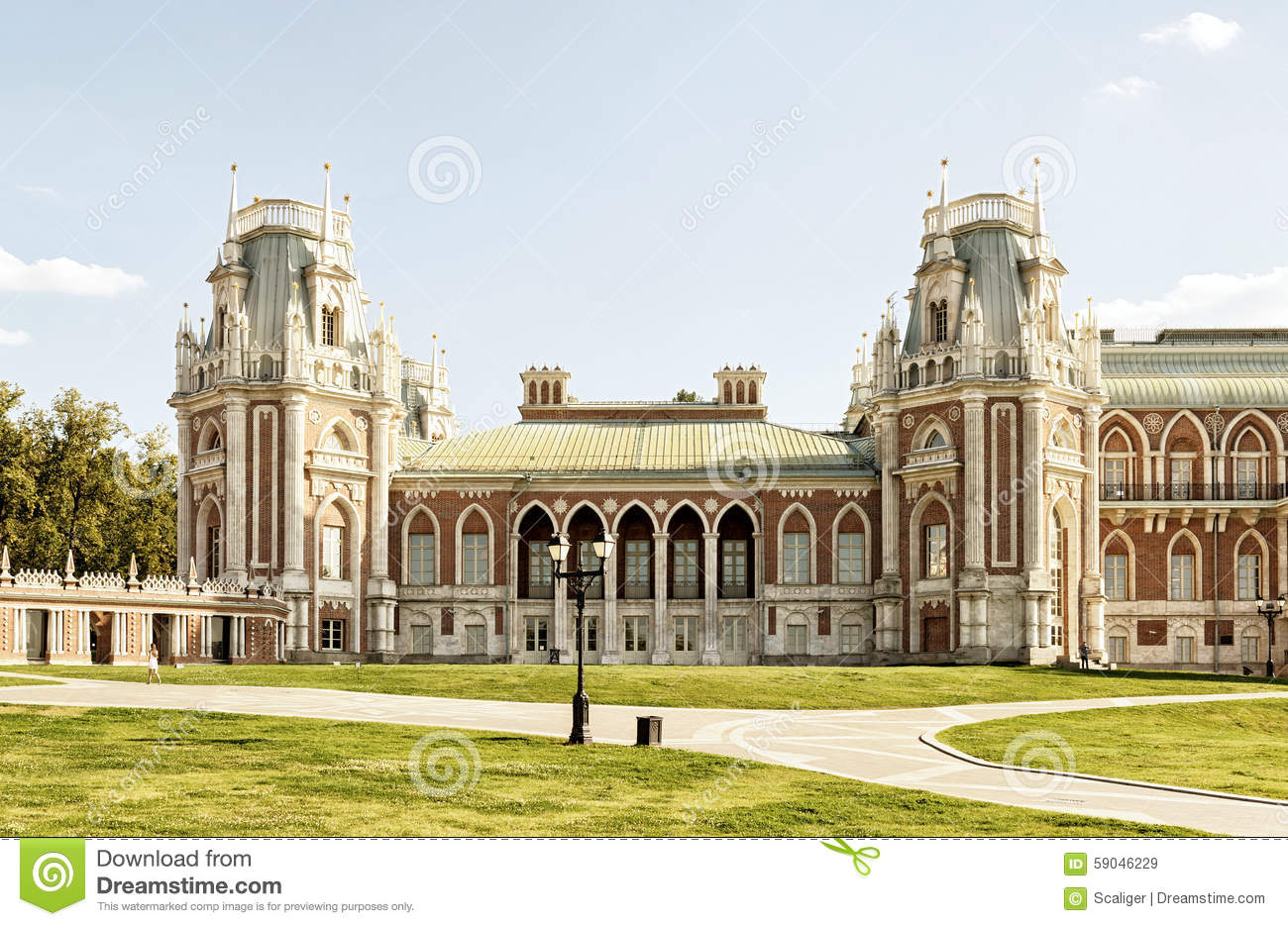 Tsaritsyno Palace Moscow, The Grand Palace Of Catherine The Great In Tsaritsyno, Moscow ...