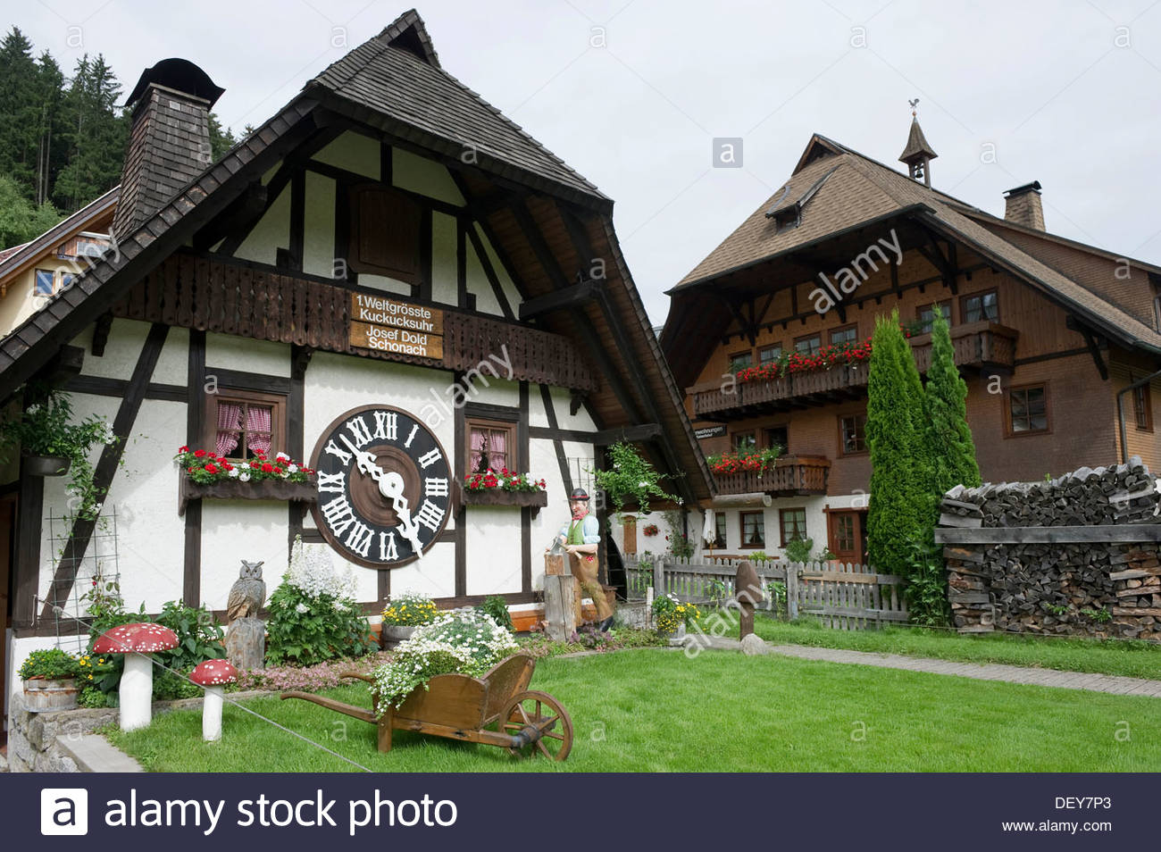 Uhren Museum The Black Forest, Largest cuckoo clock in the world, Schonach, Black Forest Stock ...