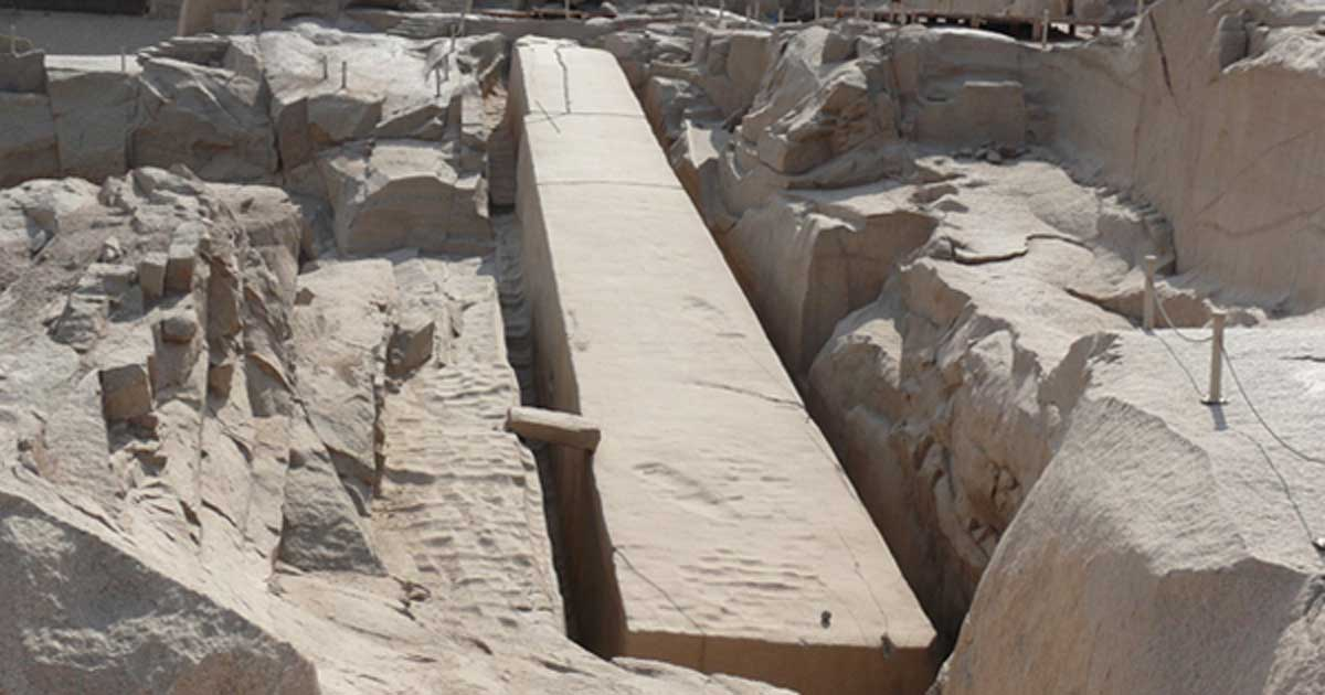 Unfinished Obelisk Aswan, Why Did the Egyptian Masons Down Tools on the Largest Obelisk Ever ...