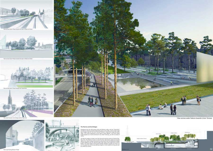 Union Terrace Aberdeen and the Northeast, Aberdeen City Garden: Union Terrace Gardens - e-architect